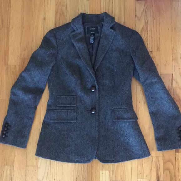 J. Crew Blazer 2 Petite Grey Wool